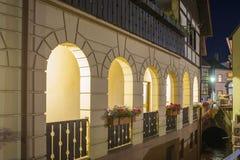 Arcades στο ιστορικό κέντρο Gernsbach, μαύρο δάσος, Baden Στοκ Εικόνα
