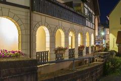 Arcades στο ιστορικό κέντρο Gernsbach Στοκ φωτογραφία με δικαίωμα ελεύθερης χρήσης