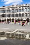 Arcades της πρόσοψης στην πλατεία SAN Marco στη Βενετία, Ιταλία Στοκ Φωτογραφία