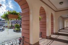 Arcades του Δημαρχείου σε Gengenbach Στοκ Εικόνα