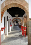 Arcades του Plaza Chica, μικρό τετράγωνο, Zafra, επαρχία Badajoz, Εστρεμαδούρα, Ισπανία Στοκ φωτογραφία με δικαίωμα ελεύθερης χρήσης