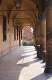 Arcades. Porches with vaulted ceiling and columns Royalty Free Stock Photo