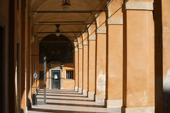 Arcades. Typical passage with arcades in bologna, italy Royalty Free Stock Photo