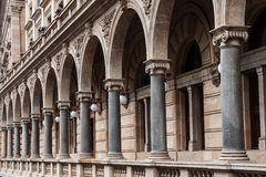 Arcades along the building of the National Theater in Prague. Czech Republic Royalty Free Stock Image