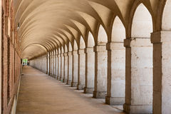 Arcades in Aranjuez, Madrid Stock Images