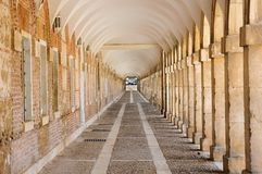 Arcades in Aranjuez, Madrid Spain. Arcades near the Royal Palace of Aranjuez in Madrid, Spain Stock Photography