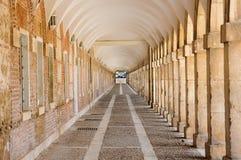 Arcades in Aranjuez, Madrid Spanje stock fotografie