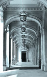 Arcades architecture detail photography. Black and white photo of arcades architectural detail photo Stock Photography