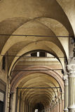 Arcades of Bologna. Typical, Decorative Arcades on the Streets in Bologna. Italy, Europe Stock Images