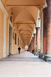 Arcades in Bologna city. BOLOGNA, ITALY - OCTOBER 31, 2012: arcades in Bologna city. Arcades are a symbol of the city, their length of over 37 kilometers along Royalty Free Stock Images