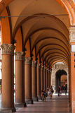Arcades in Bologna city, Italy. Arcades and porticos in Bologna city, Italy Stock Photo