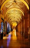 Arcades of bologna at Christmas royalty free stock photo
