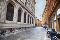 Arcades in Bologna, Italy. Gallery of arcades in Bologna, Italy Stock Images