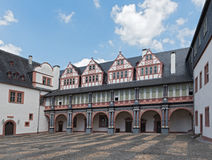 The arcades of castle Weilburg, Hesse, Germany.  Stock Image
