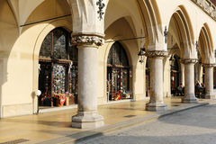 Arcades of the Cloth Hall in Krakow Stock Images