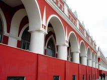 Arcades in de stad van Kaluga in Rusland stock foto