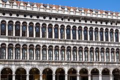 Arcades of the facade on Piazza San Marco in Venice, Italy. Arcades of the facade on Piazza San Marco Saint Mark square in Venice, Italy Stock Images