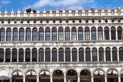 Arcades of the facade on Piazza San Marco in Venice, Italy. Arcades of the facade on Piazza San Marco Saint Mark square in Venice, Italy Royalty Free Stock Photos