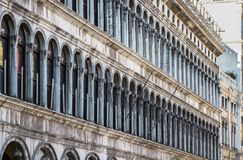 Arcades of the facade on Piazza San Marco in Venice, Italy. Arcades of the facade on Piazza San Marco Saint Mark square in Venice, Italy Royalty Free Stock Image