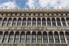 Arcades of the facade on Piazza San Marco in Venice Royalty Free Stock Photo