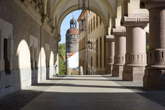 Arcades in Goerlitz, Germany. Historic Arcades in the town of Goerlitz, Germany Stock Photos