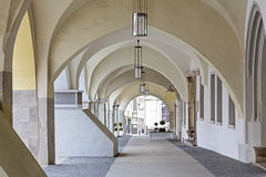 Arcades in Goerlitz, Germany. Historic Arcades in the town of Goerlitz, Germany Stock Photo