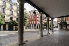 Arcades. In the historic center of the city of Valladolid, Castile and Leon, Spain Royalty Free Stock Photo