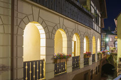 Arcades in the historic center of Gernsbach, Black Forest, Baden Stock Image