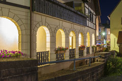 Arcades in the historic center of Gernsbach Royalty Free Stock Photo