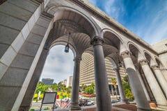 Arcades in Los Angeles city hall Royalty Free Stock Image