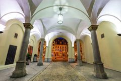 Arcades and market square of old town in of Wroclaw. Royalty Free Stock Images