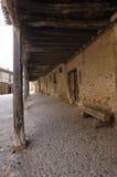 Arcades of the medieval village of Calatañazor, Soria province, Royalty Free Stock Photo