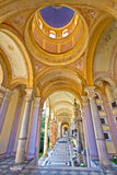 Arcades of Mirogoj cemetary in Zagreb. Vertical view, capital of Croatia Stock Images