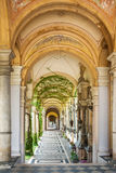 Arcades at Mirogoj Cemetery in Zagreb, Croatia. Final resting place of many famous Croatian historic figures and celebrities. The construction lasted from 1879 Stock Photo