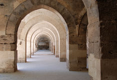 Arcades. In the old caravansary Sultanhani close to Konya, Turkey Royalty Free Stock Photos