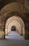 Arcades. In an old caravanserai in turkey Royalty Free Stock Image