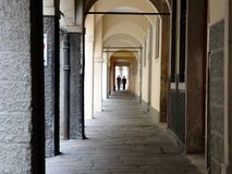 Arcades in Padua, Italy. People in arcades in Padua, Italy Stock Image