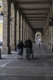 The arcades of Passeig Picasso, Barcelona Royalty Free Stock Images
