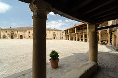 Arcades of Pedraza. Village of Pedraza, in the province of Segovia, Spain Stock Photo