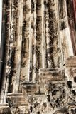 Arcades, pillars and facade of Do Carmo convent in Lisbon. Portugal Royalty Free Stock Images