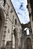 Arcades, pillars, windows and details of Do Carmo convent in Lisbon. Arcades, pillars windows and details of Do Carmo convent in Lisbon, Portugal Stock Photos