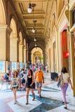 Arcades près de Piazza Repubblica à Florence, Italie Photographie stock