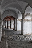 Arcades in Prgaue. View of arcades in prague, near the Castle Stock Photo