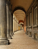 Arcades van de stad van Bologna Italië Stock Foto