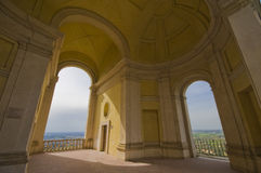 Arcades of Villa d'Este Stock Photo