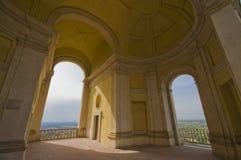 Arcades of Villa d'Este. In the park of Villa d'Este in Tivoli Stock Photo