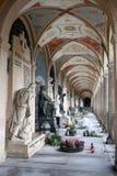 Arcades on Vysehrad in Prague. Burials on the cemetery Vysehrad in the city of Prague Stock Photography