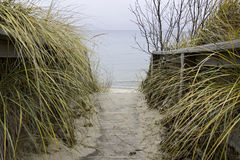 Arcadia beach. Public beach in Arcadia, Michigan Stock Photos