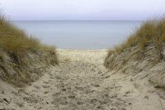 Arcadia beach. Public beach in Arcadia, Michigan Stock Image