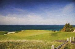 Arcadia bluffar golfklubben Fotografering för Bildbyråer